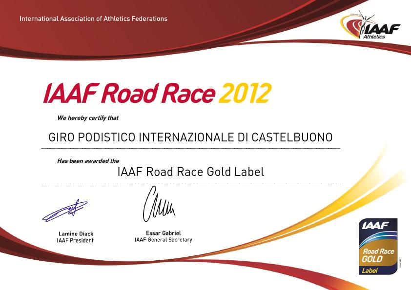 """Il Giro di Castelbuono è """"Gold Label Events IAAF"""""""