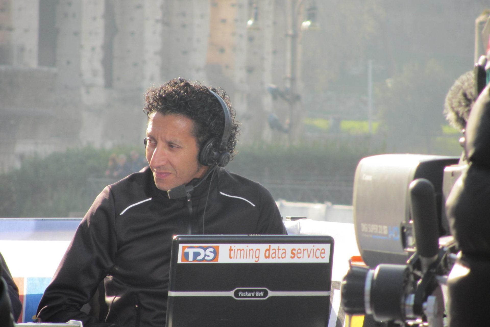 Telecronista d'eccezione alla maratona di Venezia