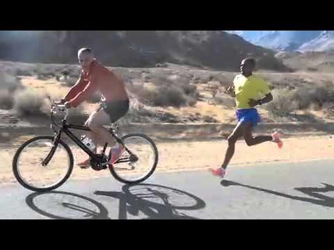 Meb Keflezighi 10 mile Tempo training for 2012 Olympic Marathon Trials