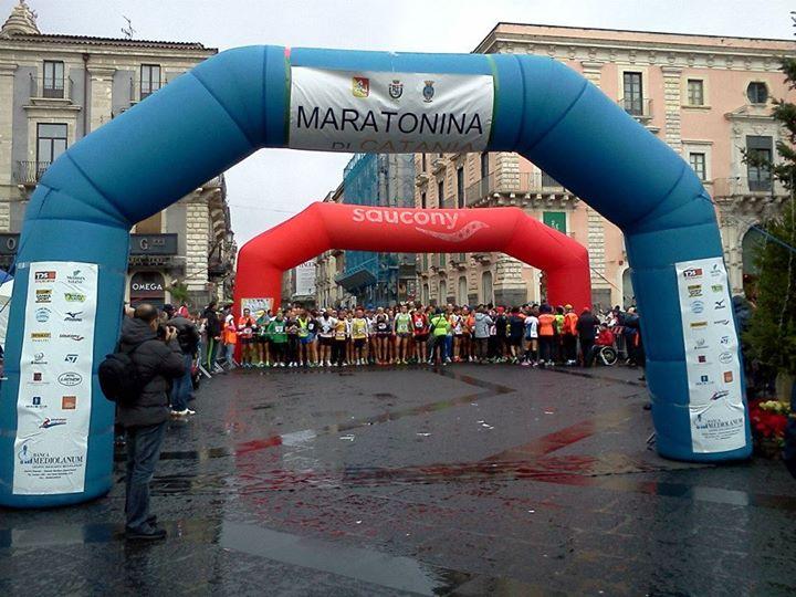 Maratonina di Catania domenica nel centro storico