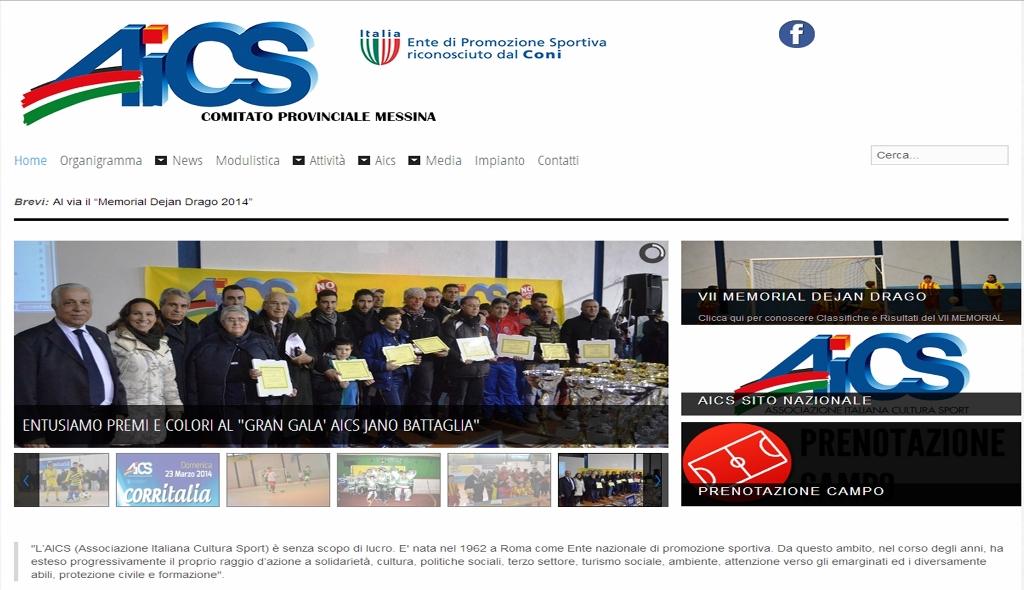 E' on line il nuovo sito dell' AICS Messina