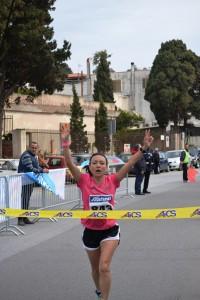 Arrivo Maria Pistone (vincitrice)