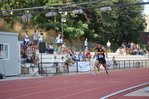 Arrivo dei 200 metri vinti da Andrea Spezzi (Cus Palermo)