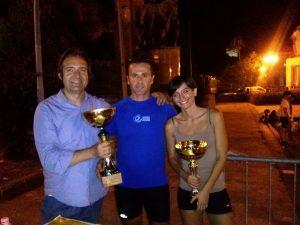I vincitori Andronico e Satullo con l'organizzatore Egidio Privitera