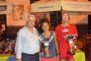 Il presidente Margareci con i vincitori Miezi e Grosso