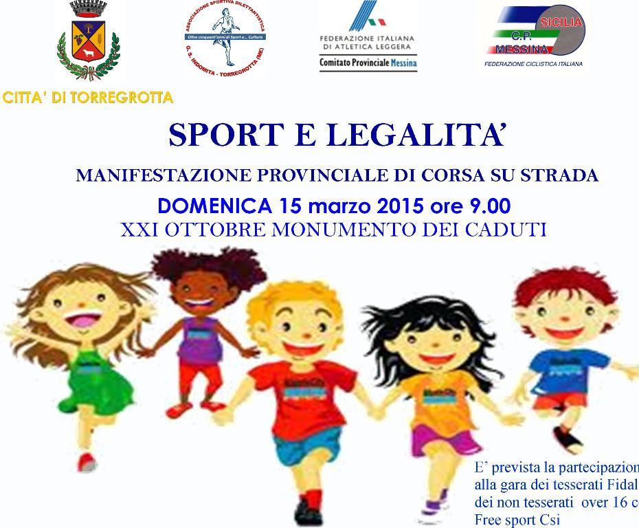 """""""Sport e Legalità"""", si corre a Torregrotta per nobili fini"""