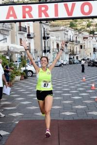 Arrivo vincitrice Francesca Colafati Lipari