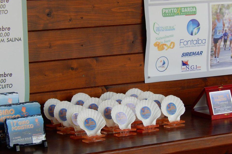 Premiazione 17° Giro Podistico a tappe delle Isole Eolie