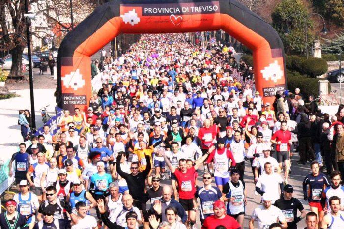 Maratona di Treviso straniera, ma che festa!
