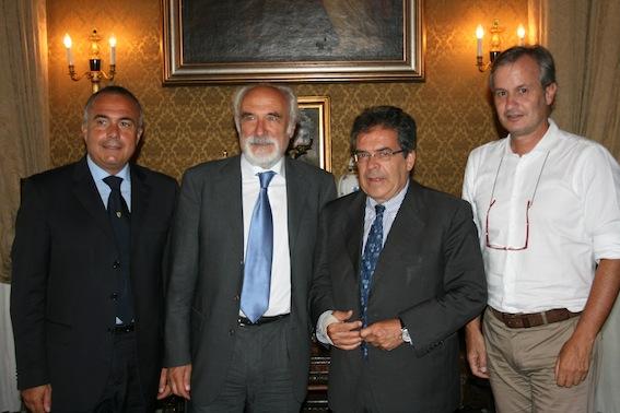 Il presidente Alfio Giomi in visita a Catania