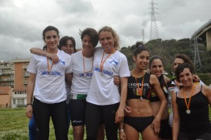 Premiazione 4x100 Atletica Villafranca Assoluti
