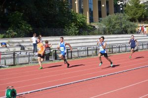 Gara 100 metri Allievi, vinta da Marco Paponi (Atletica Barbas Reggio Calabria)