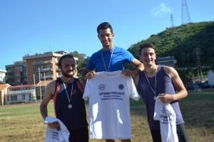 Podio del lungo Junior Senior con l'oro di Gabriele Crisafulli (Atletica Villafranca)
