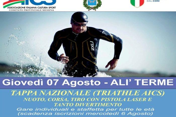 Il Triathle sbarca ad Alì Terme nel segno dell'AICS Messina
