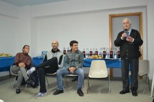 Festa dell'Atleta (i tecnici Silvia Bosurgi - Nedeljko Rodic - Antonio Laganà ed il presidente Giuseppe Carmignani)