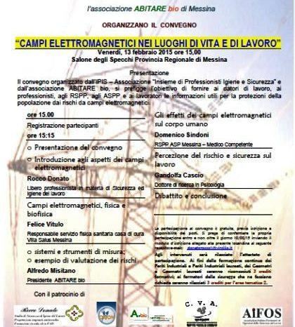 """Il 13 febbraio il convegno """"Campi Elettromagnetici nei luoghi di Vita e di Lavoro"""""""