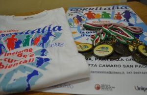 T-shirt locandina e medaglie CORRITALIA 2015