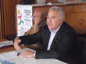 Pippo Leone durante la conferenza stampa