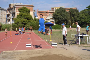 Gabriele Crisafulli (Atletica Villafranca) vincitore del lungo