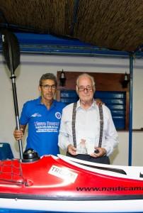 Mauro Prosperi con il presidente della Polisportiva Messina Giuseppe Carmignani