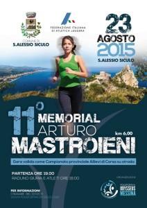 La locandina del Memorial Arturo Mastroieni