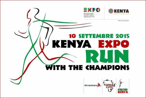 """Kenia Expo, il 10 settembre """"Run Wiht The Champions"""""""