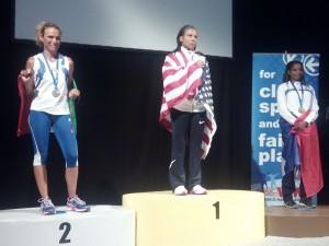 Maria Ruggeri sul podio a Lione