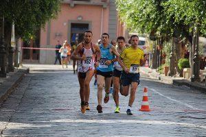 Gruppo di testa guidato da Salvatore Lanuzza (Polisportiva Milazzo)