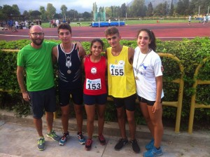 I ragazzi della Duilia Barcellona con il tecnico Emanuele Torre