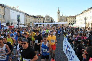 La partenza della Turin Marathon