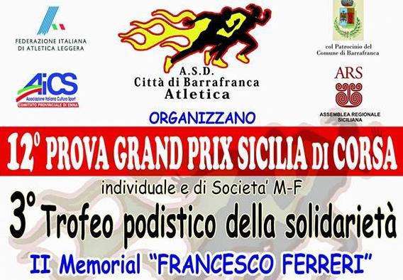 """A Barrafranca il """"3° Trofeo Podistico della Solidarietà"""""""