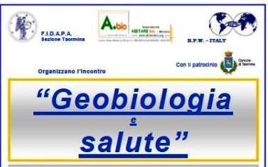 "A Taormina l'importante incontro ""Geobiologia e salute"""