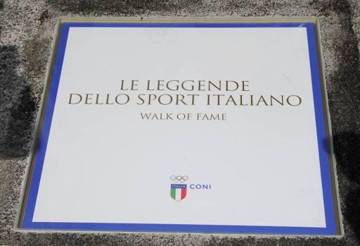 Dorando Pietri e Maurizio Damilano nella Walk of Fame