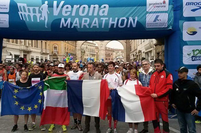 Veronamarathon: vince il keniano Jackson ma il cuore è a Parigi