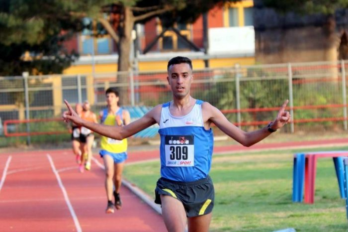 Zouhir Sahran si laurea campione siciliano Assoluto dei 10 km su pista